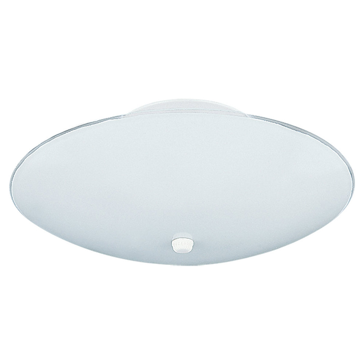 Sea Gull Lighting Bent Glass 2 Light Semi Flush Mount in White 7353-15