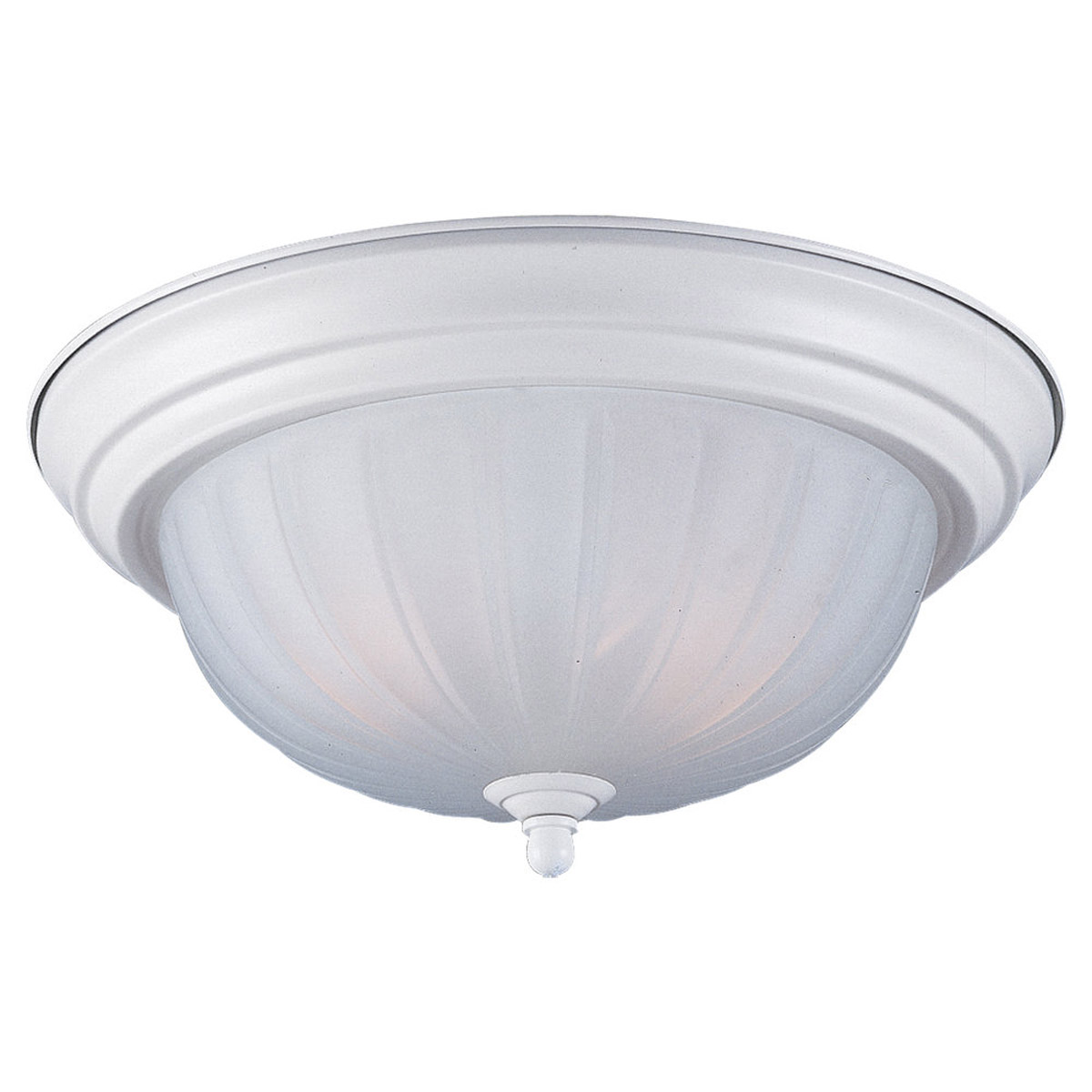 Sea Gull Lighting Floyd 1 Light Flush Mount in White 7504-15 photo