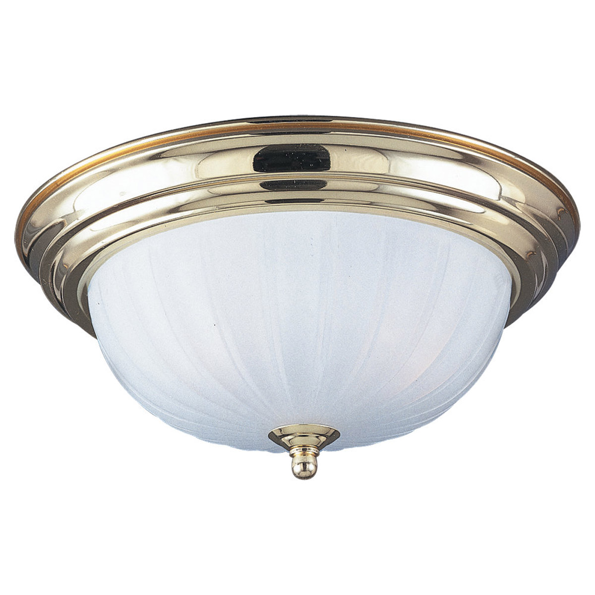 Sea Gull Lighting Linwood 2 Light Flush Mount in Polished Brass 7505-02