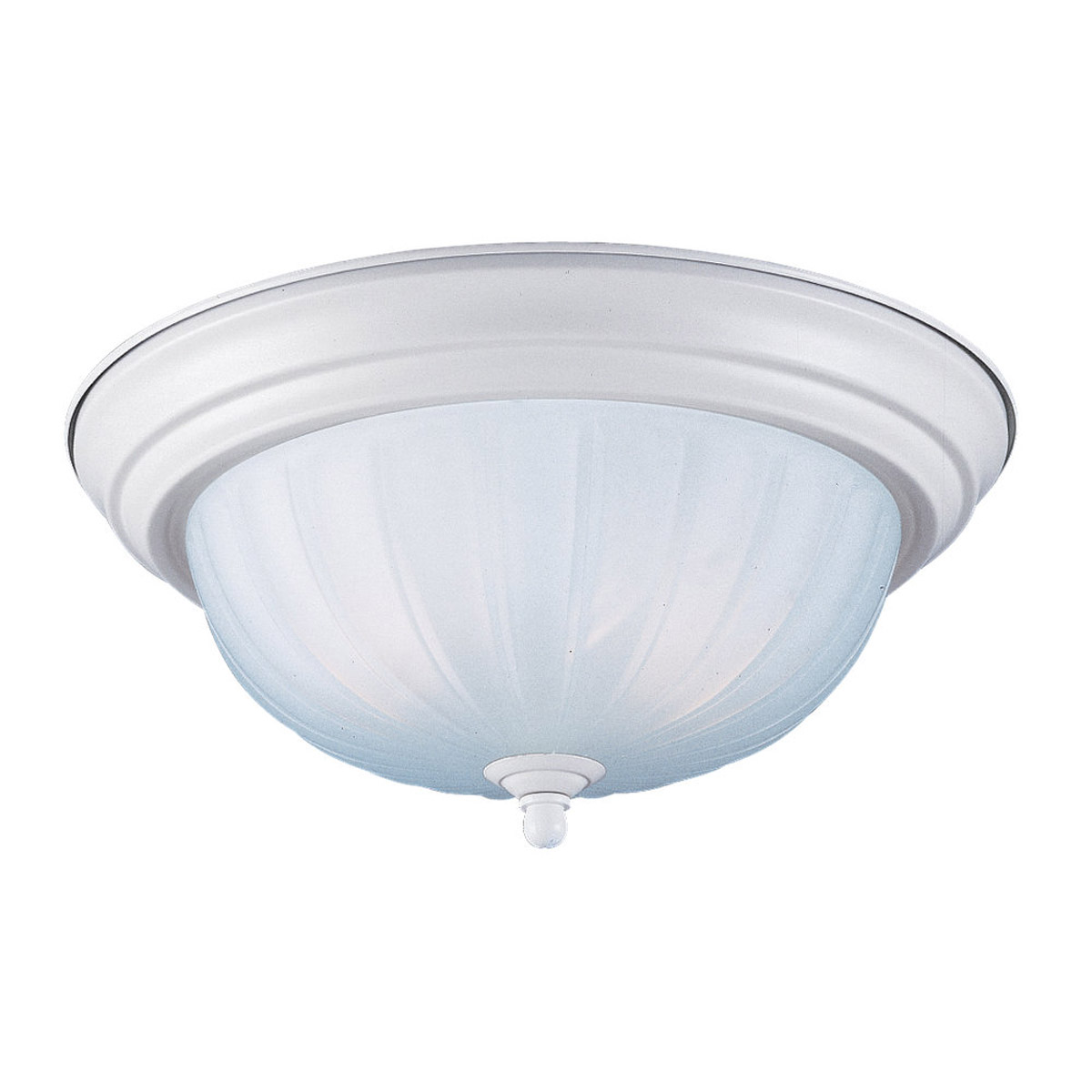 Sea Gull Lighting Floyd 3 Light Flush Mount in White 7506-15 photo