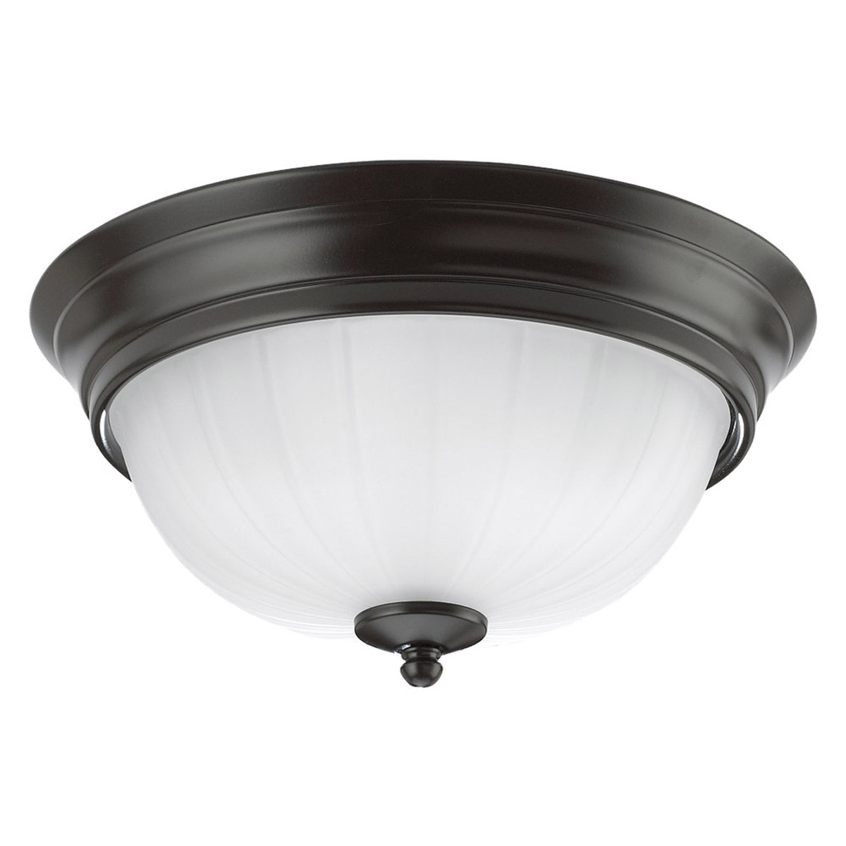 Sea Gull Lighting Linwood 3 Light Flush Mount in Heirloom Bronze 7506-782 photo