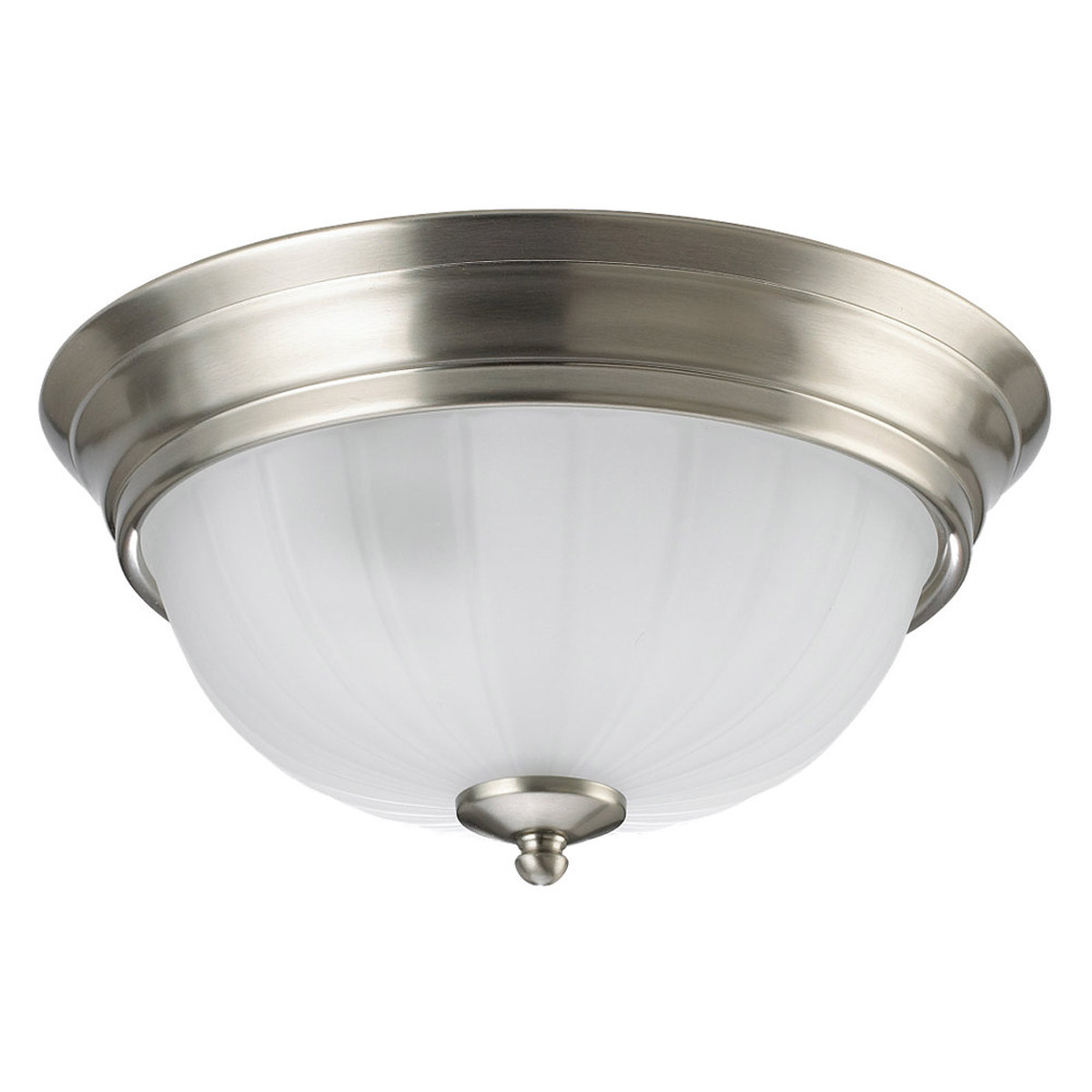 Sea Gull Lighting Linwood 3 Light Flush Mount in Brushed Nickel 7506-962 photo
