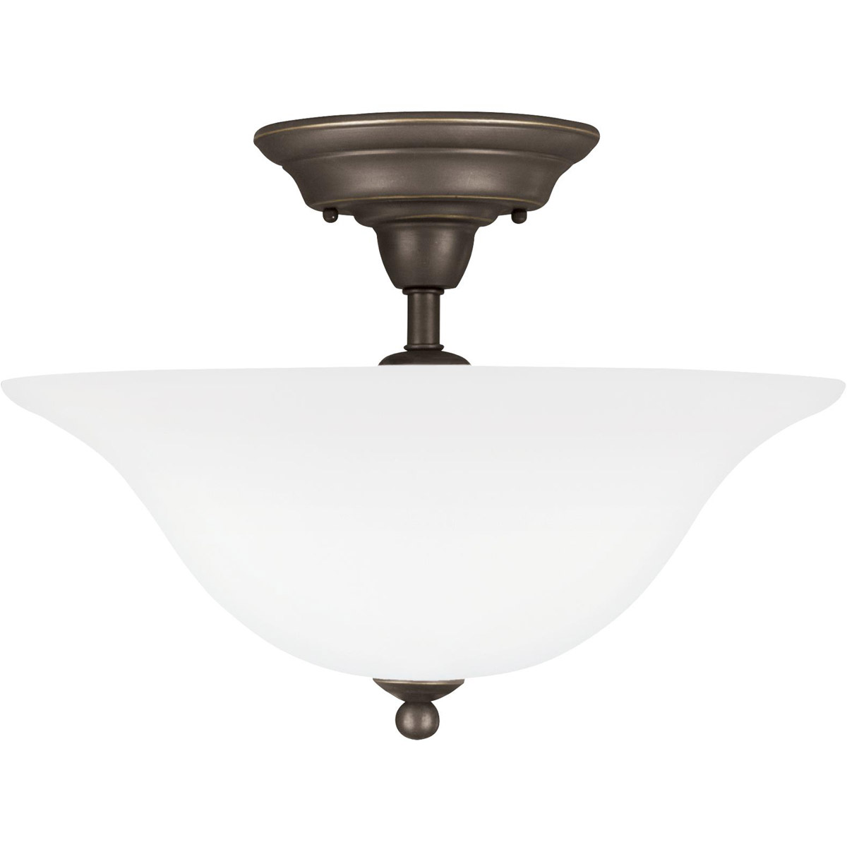 Sea Gull Lighting Sussex 3 Light Semi Flush Mount in Heirloom Bronze 75061-782