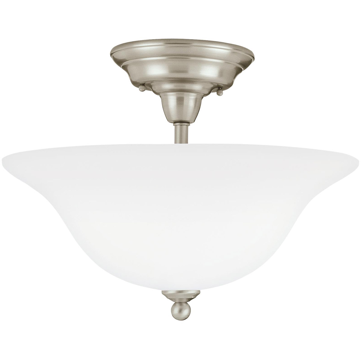 Sea Gull Lighting Sussex 3 Light Semi Flush Mount in Brushed Nickel 75061-962