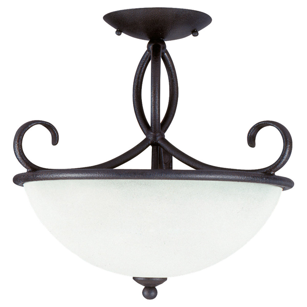 Sea Gull Lighting Pemberton 3 Light Semi-Flush Mount in Peppercorn 75075-799