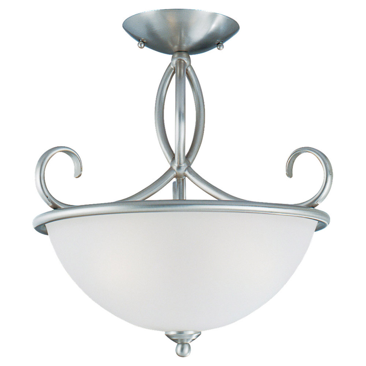 Sea Gull Lighting Pemberton 3 Light Semi-Flush Mount in Brushed Nickel 75075-962