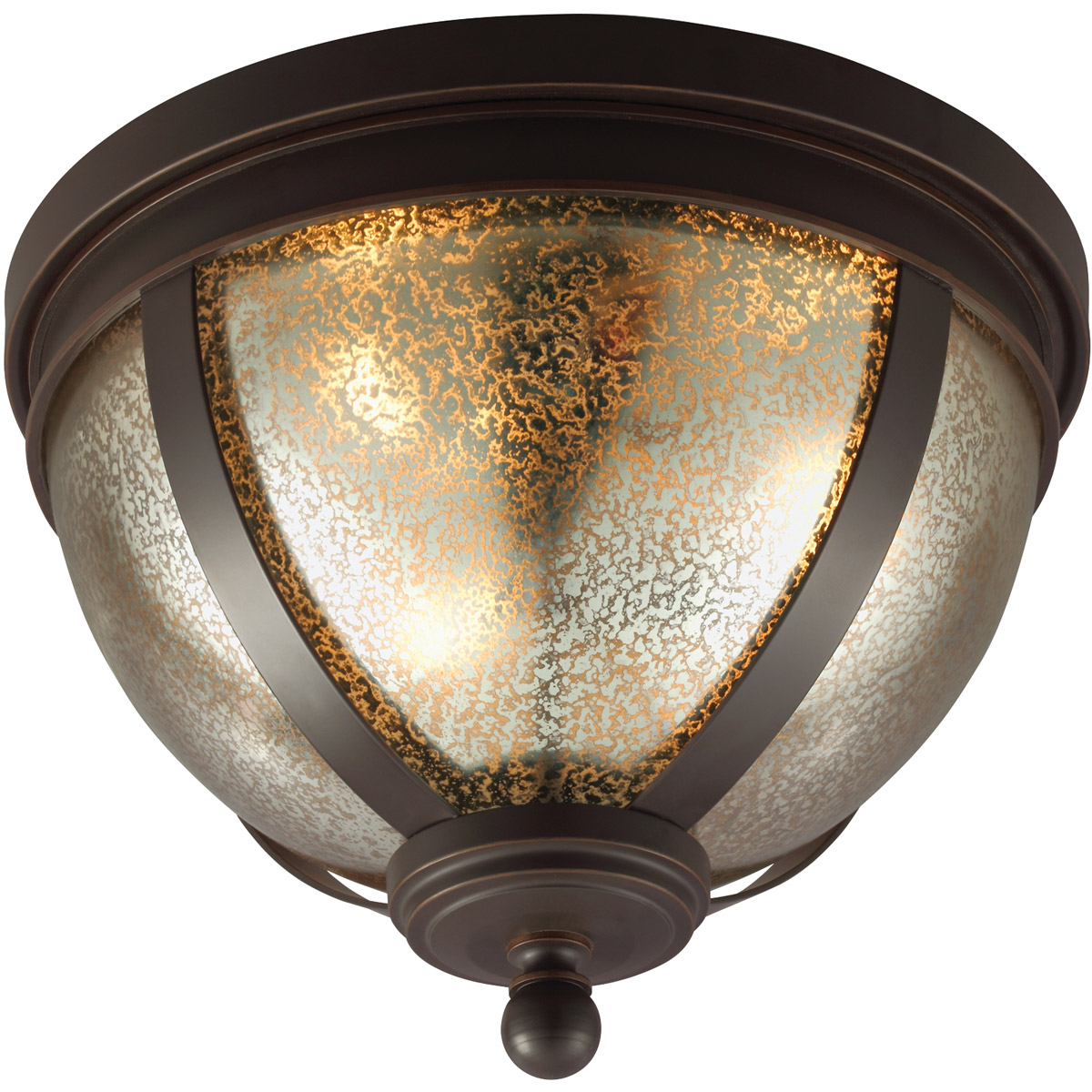 Sea Gull Sfera 3 Light Flush Mount in Autumn Bronze 7510403BLE-715 photo