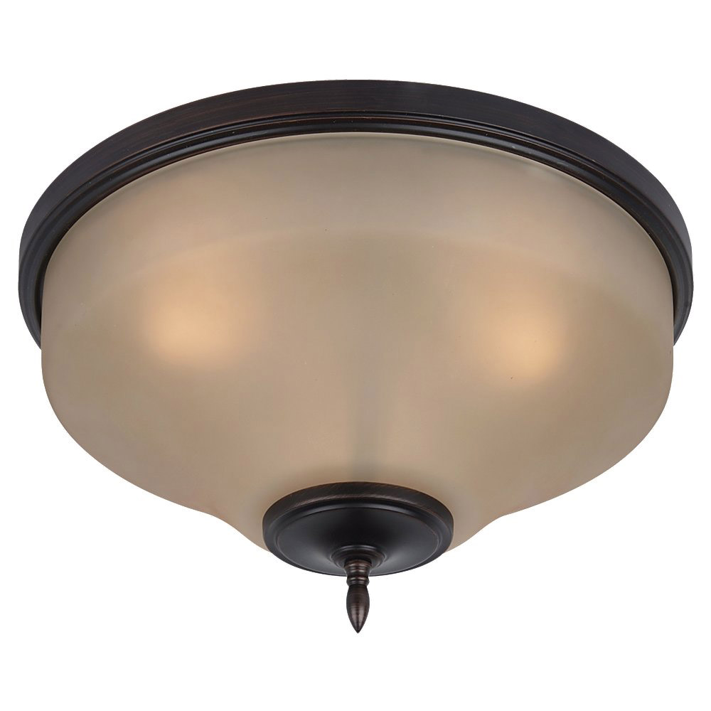Sea Gull 75180-710 Montreal 3 Light 15 inch Burnt Sienna Flush Mount Ceiling Light photo
