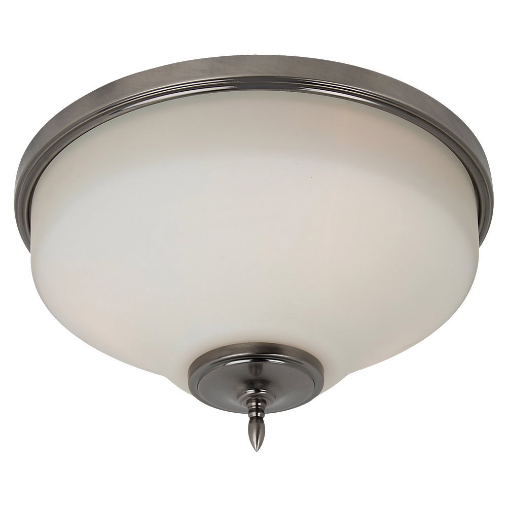 Sea Gull Lighting Montreal 3 Light Flush Mount in Antique Brushed Nickel 75180-965 photo