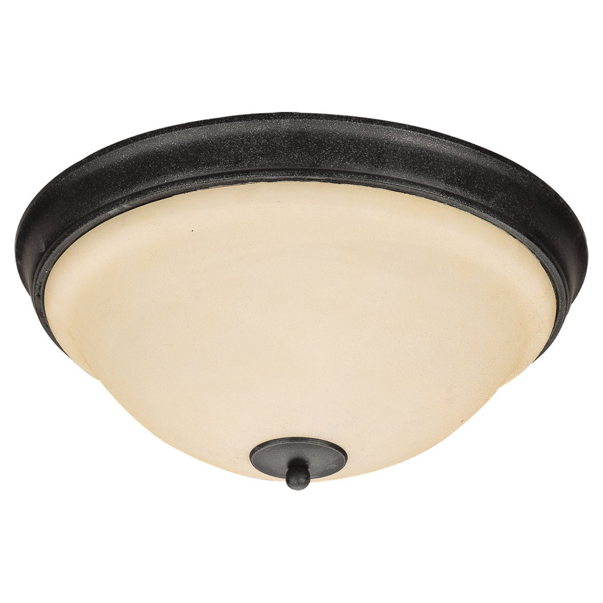 Sea Gull Lighting Serenity 3 Light Flush Mount in Weathered Iron 75190-07