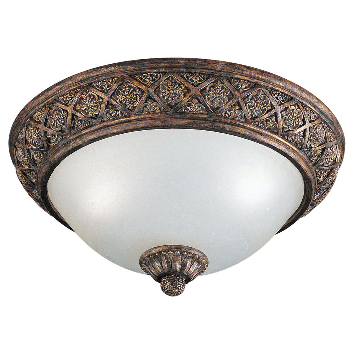 Sea Gull Lighting Highlands 2 Light Flush Mount in Regal Bronze 75250-758 photo
