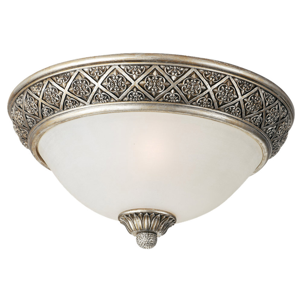 Sea Gull Lighting Highlands 2 Light Flush Mount in Palladium 75250-824