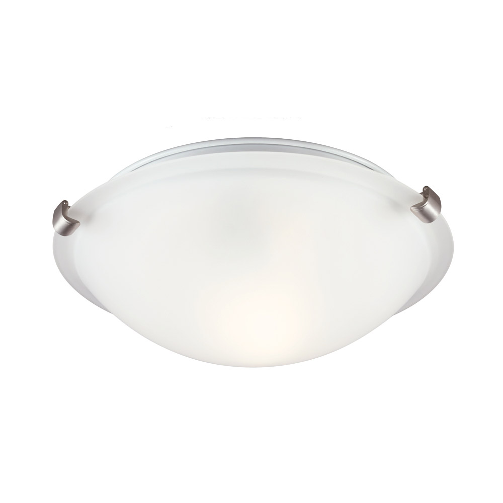 Sea Gull Lighting Signature 1 Light Flush Mount in Brushed Nickel 7532401BLE-962