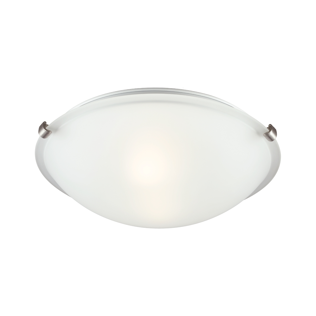 Sea Gull Lighting Signature 2 Light Flush Mount in Brushed Nickel 7532402-962