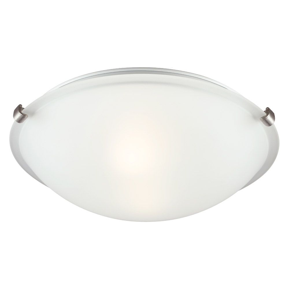 Sea Gull Lighting Signature 2 Light Flush Mount in Brushed Nickel 7532402BLE-962