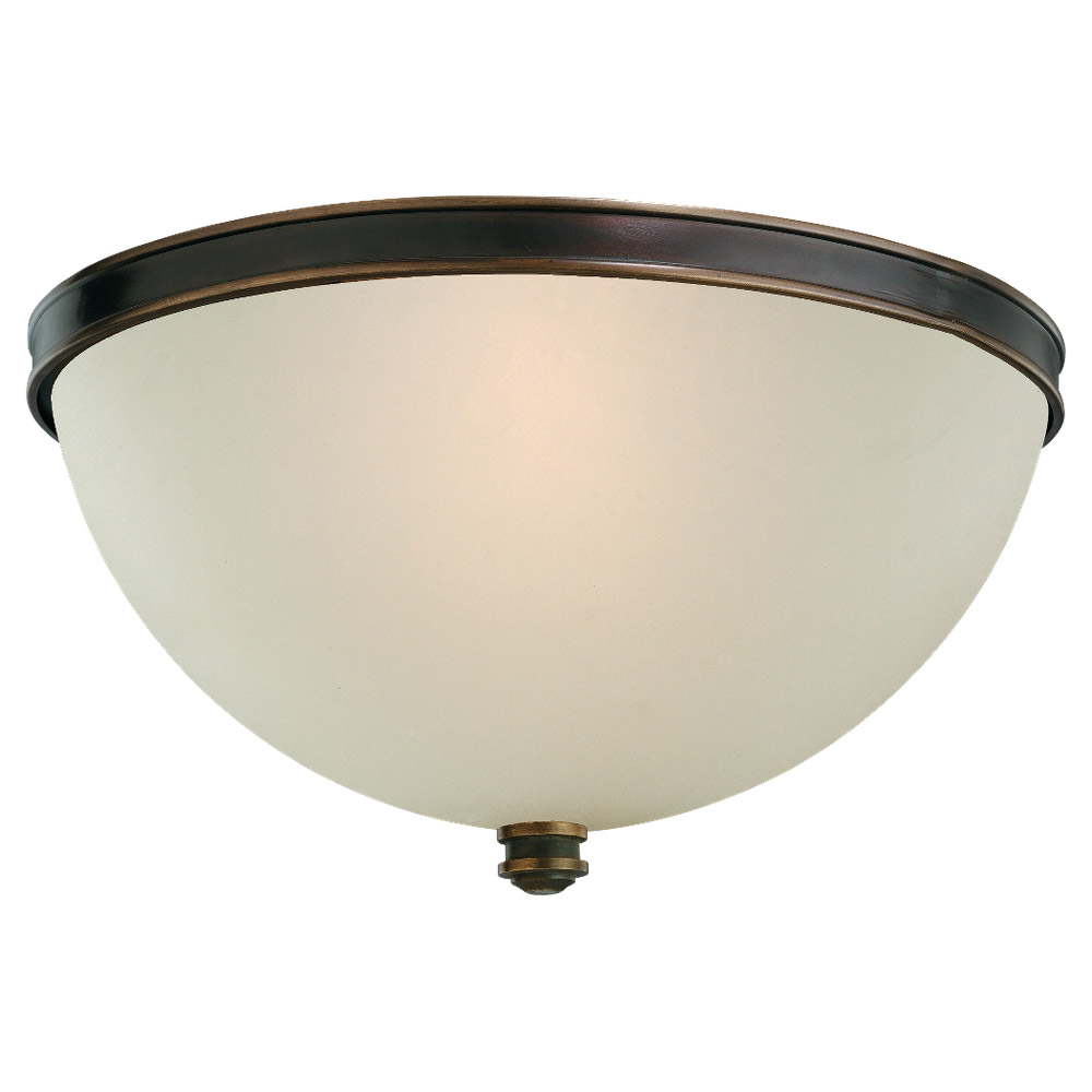 Sea Gull Lighting Warwick 2 Light Flush Mount in Vintage Bronze 75330-825