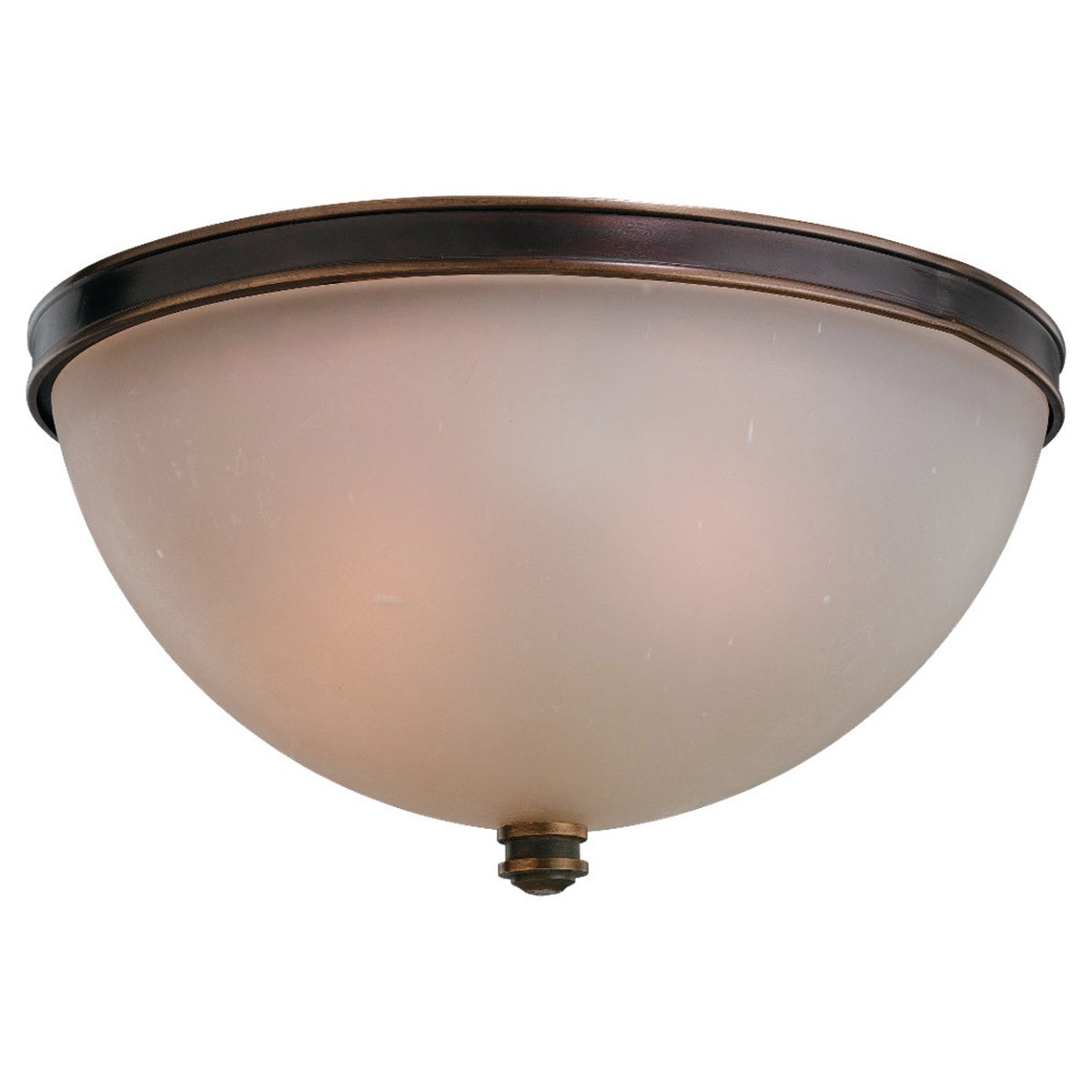 Sea Gull Lighting Warwick 3 Light Flush Mount in Vintage Bronze 75332-825