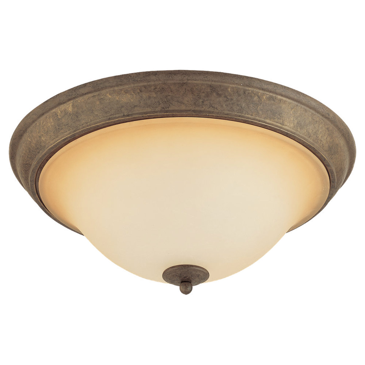 Sea Gull Lighting Brandywine 3 Light Flush Mount in Antique Bronze 75430-71