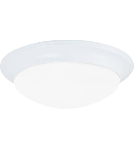 Sea Gull Lighting Nash 1 Light Flush Mount in White 75434-15
