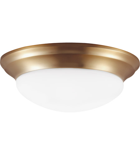 Sea Gull 75434-848 Nash 1 Light 12 inch Satin Bronze Flush Mount Ceiling Light photo