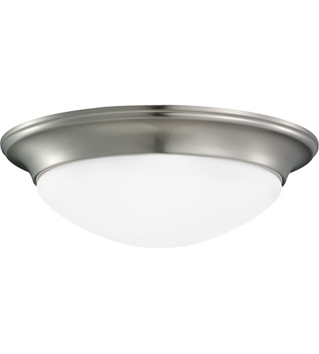 Sea Gull Lighting Nash 1 Light Flush Mount in Brushed Nickel 75434-962