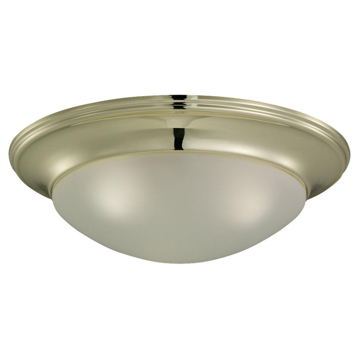 Sea Gull Lighting Nash 3 Light Flush Mount in Polished Brass 75436-02
