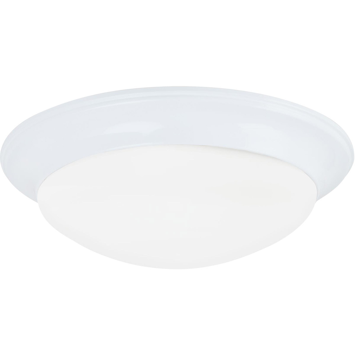 Sea Gull Lighting Nash 3 Light Flush Mount in White 75436-15