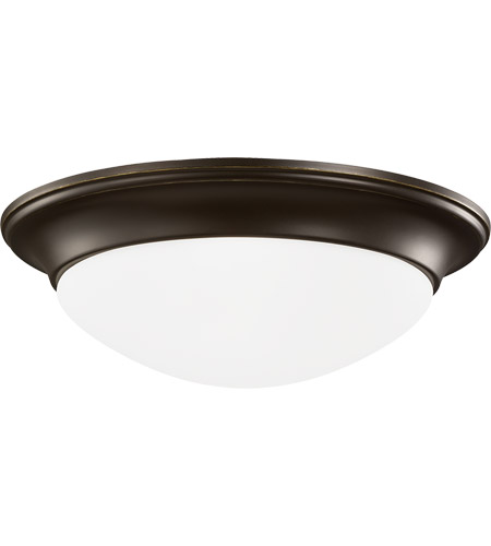 Sea Gull Lighting Nash 3 Light Flush Mount in Heirloom Bronze 75436-782