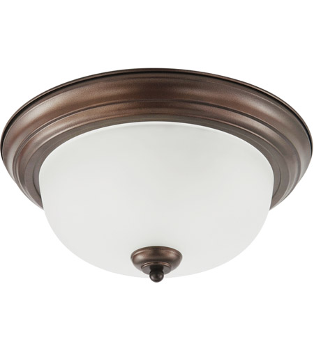 Sea Gull Holman 3 Light Flush Mount in Bell Metal Bronze 75443-827 photo