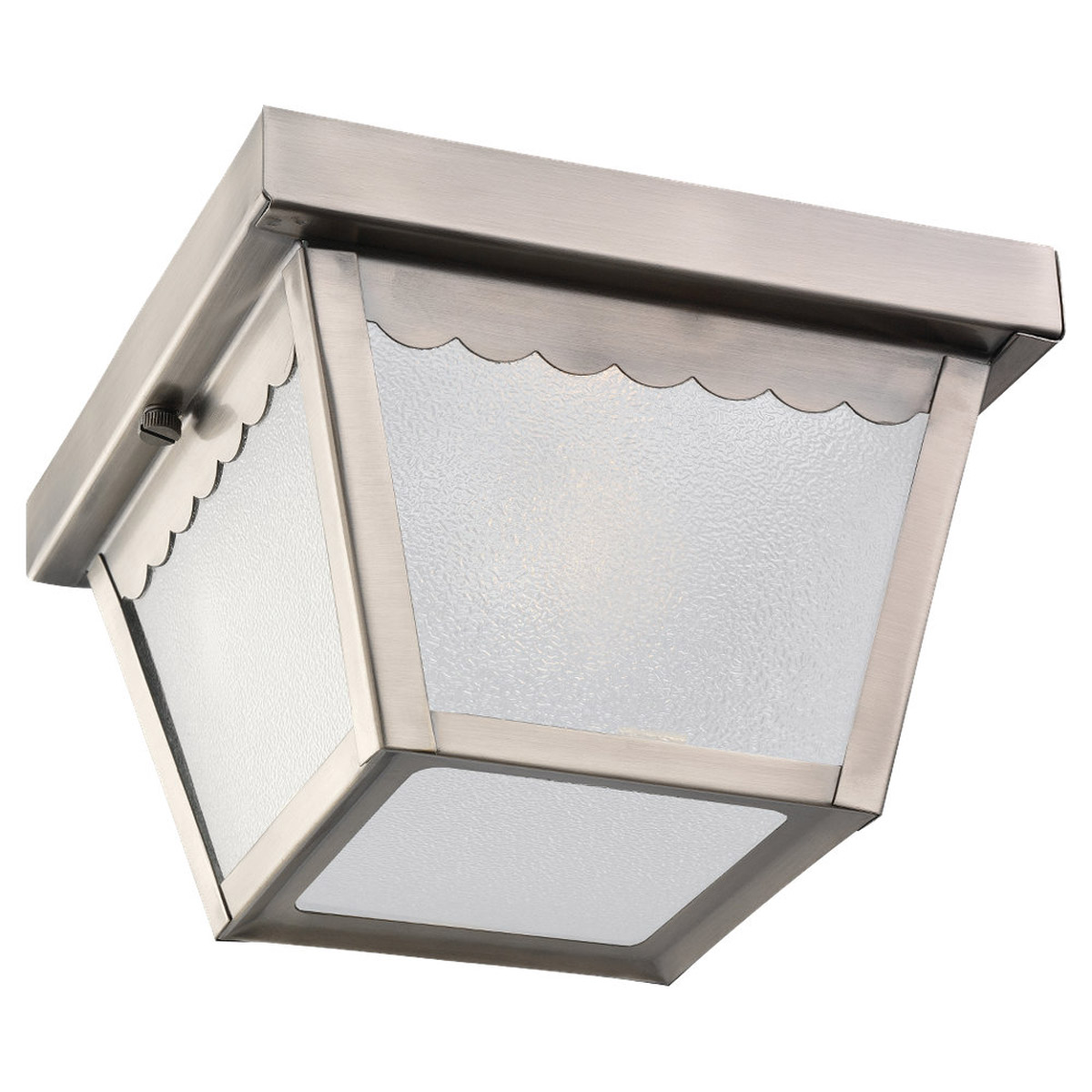 Sea Gull Lighting Signature 1 Light Outdoor Ceiling Fixture in Antique Brushed Nickel 75467-965