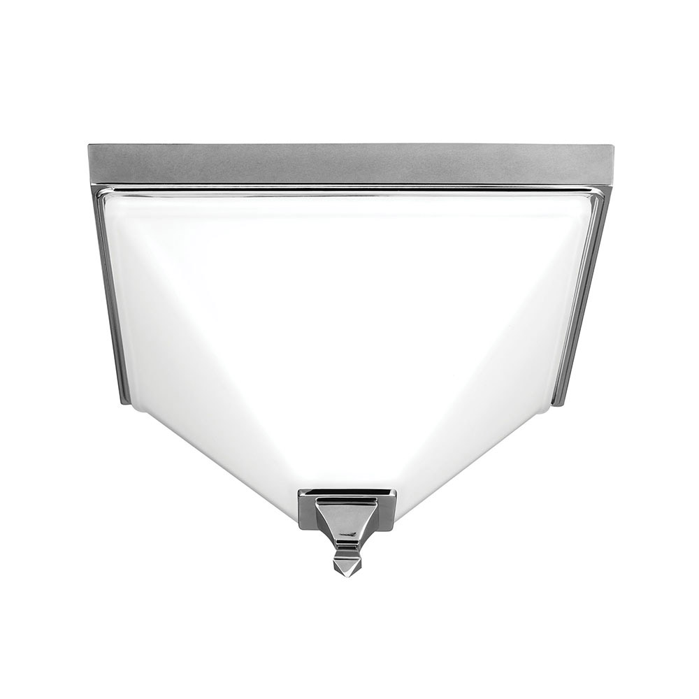 Sea Gull Denhelm 2 Light Flush Mount in Chrome 7550402BLE-05