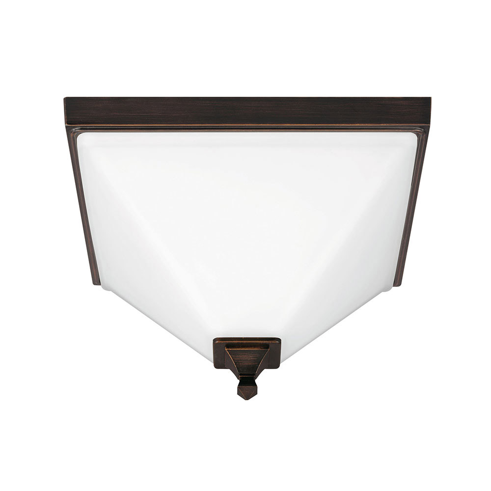 Sea Gull 7550402BLE-710 Denhelm 2 Light 14 inch Burnt Sienna Flush Mount Ceiling Light in Fluorescent photo