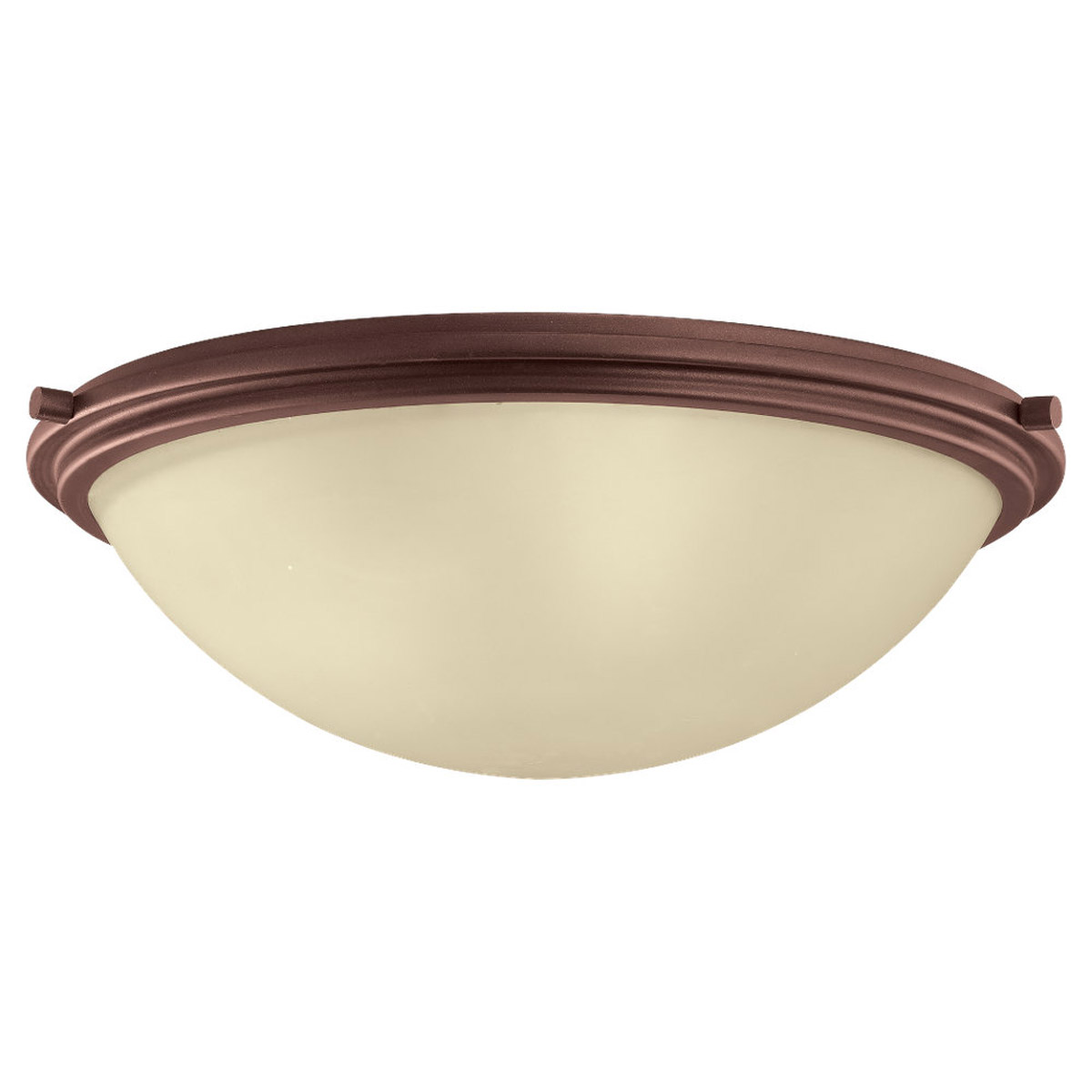 Sea Gull Lighting Winnetka 3 Light Flush Mount in Red Earth 75662-847 photo