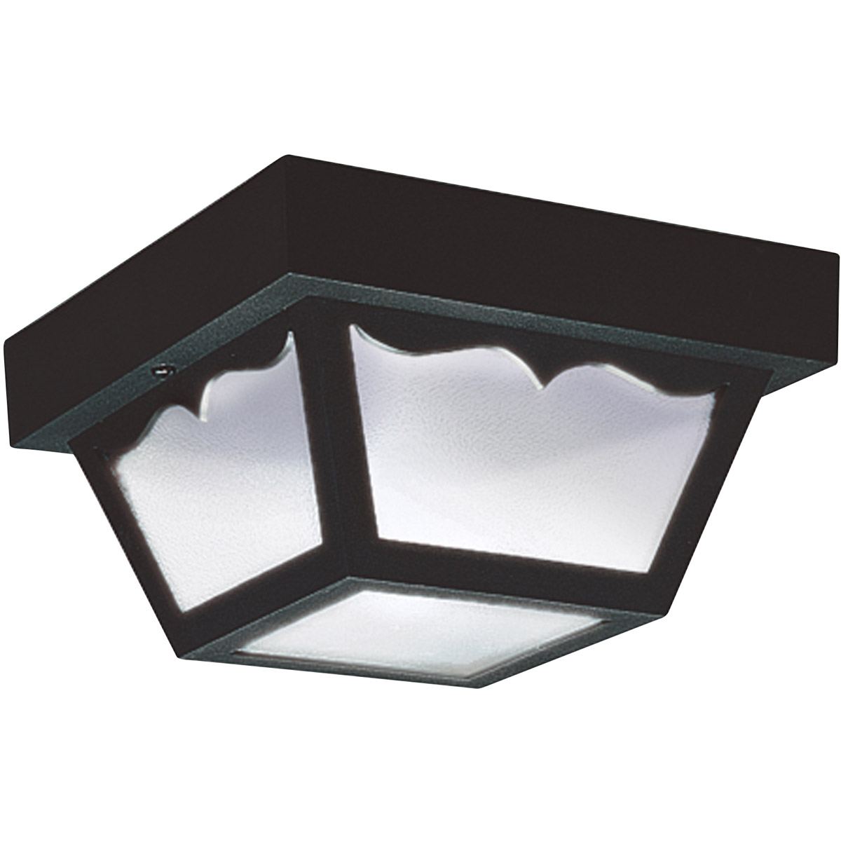 Sea Gull 7567-32 Signature 1 Light 8 inch Clear Outdoor Ceiling Fixture in Black photo