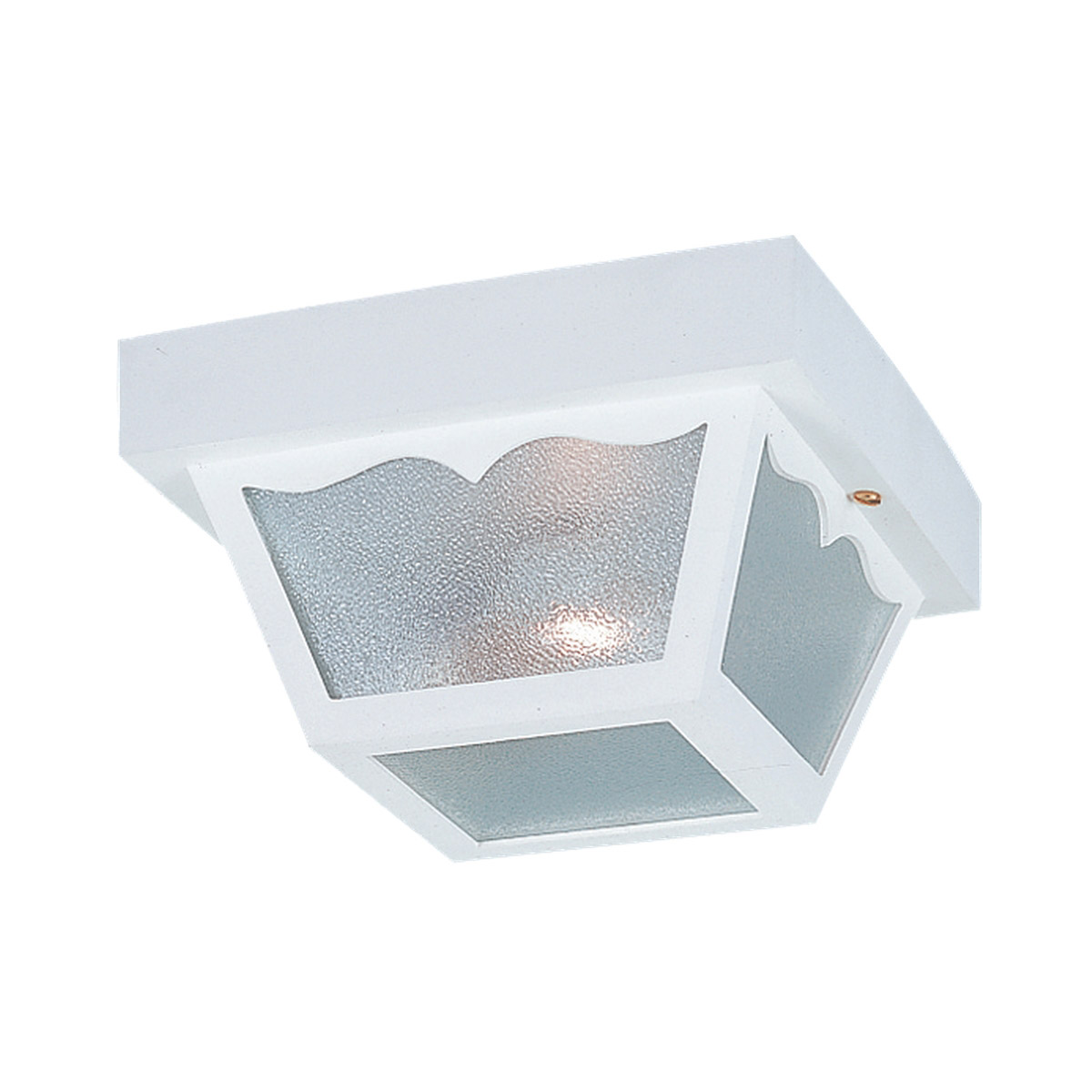 Sea Gull Lighting Signature 2 Light Outdoor Ceiling Fixture in White 7569-15 photo