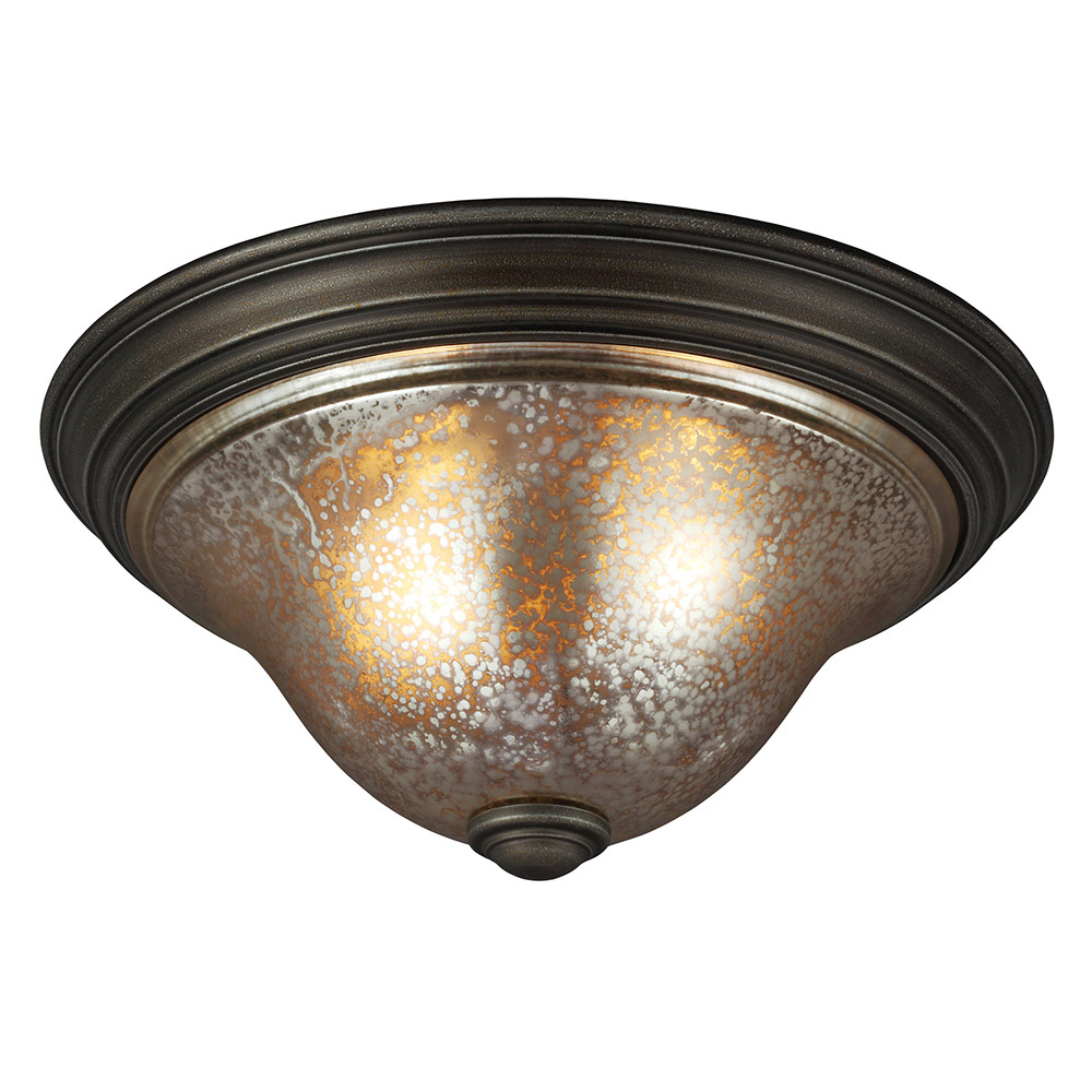 Sea Gull 7570402-736 Blayne 2 Light 16 inch Platinum Oak Flush Mount Ceiling Light in Standard photo