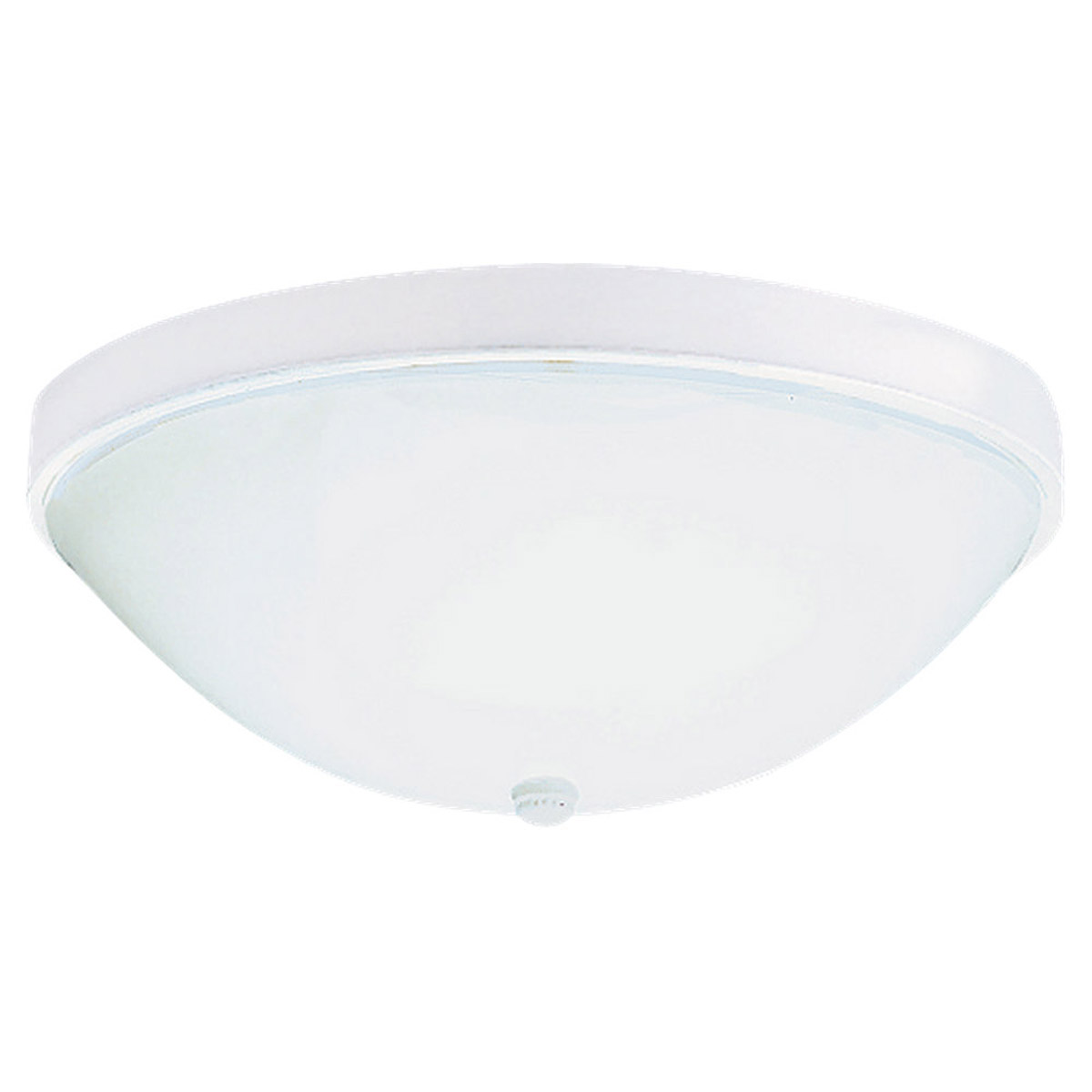 Sea Gull Lighting Economy Flush Mount 3 Light Flush Mount in White 7572-15 photo
