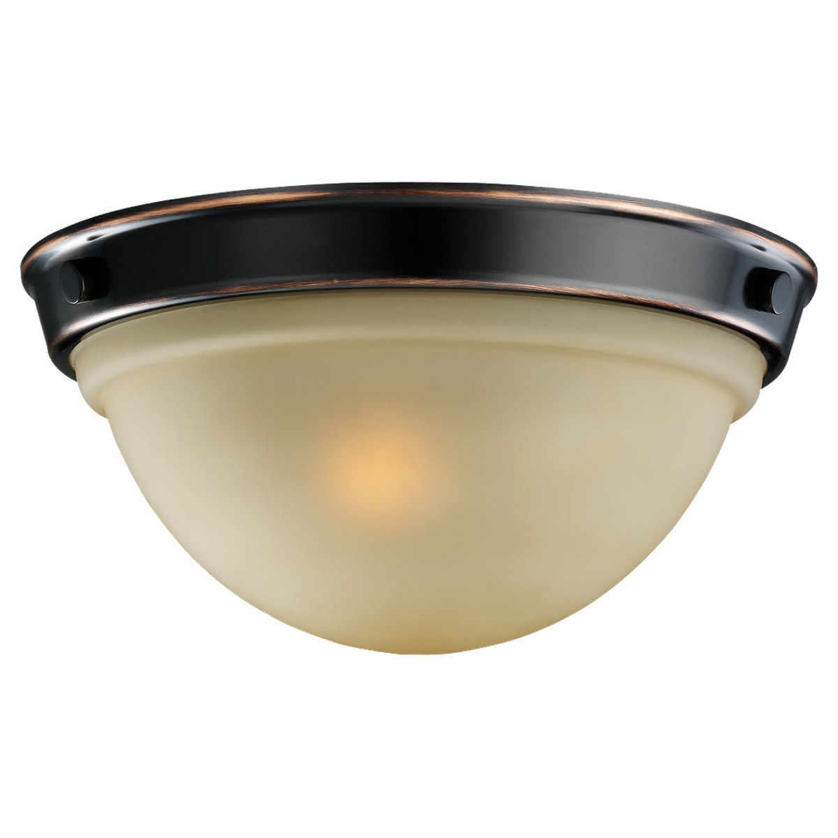 Sea Gull Lighting Sydney 2 Light Flush Mount in Vintage Brown 75745-862