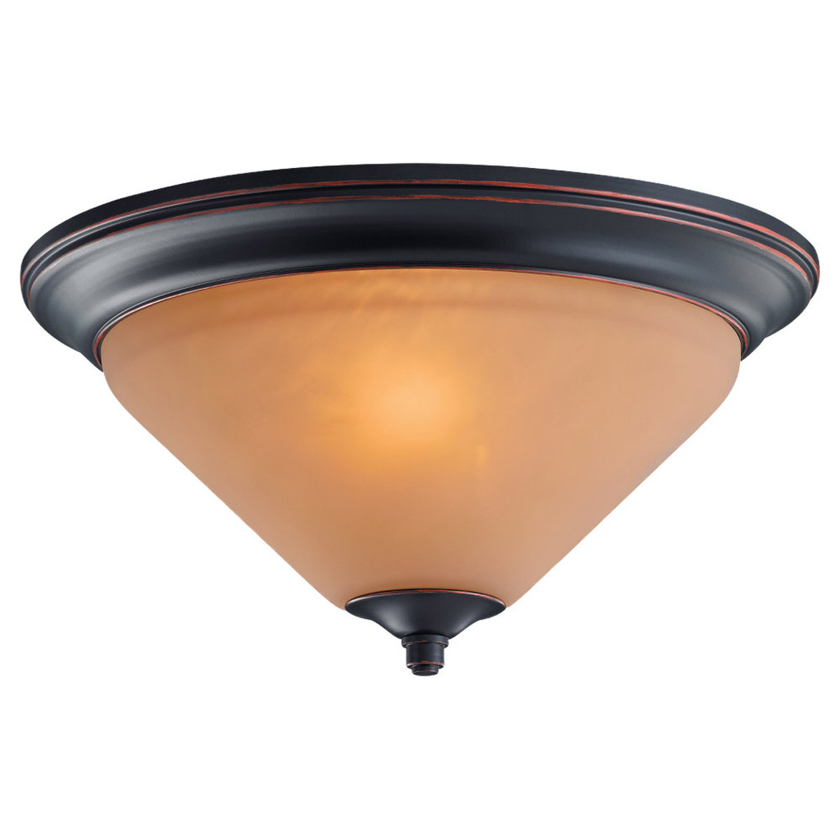 Sea Gull Lighting Belair 2 Light Flush Mount in Vintage Brown 75790-862 photo
