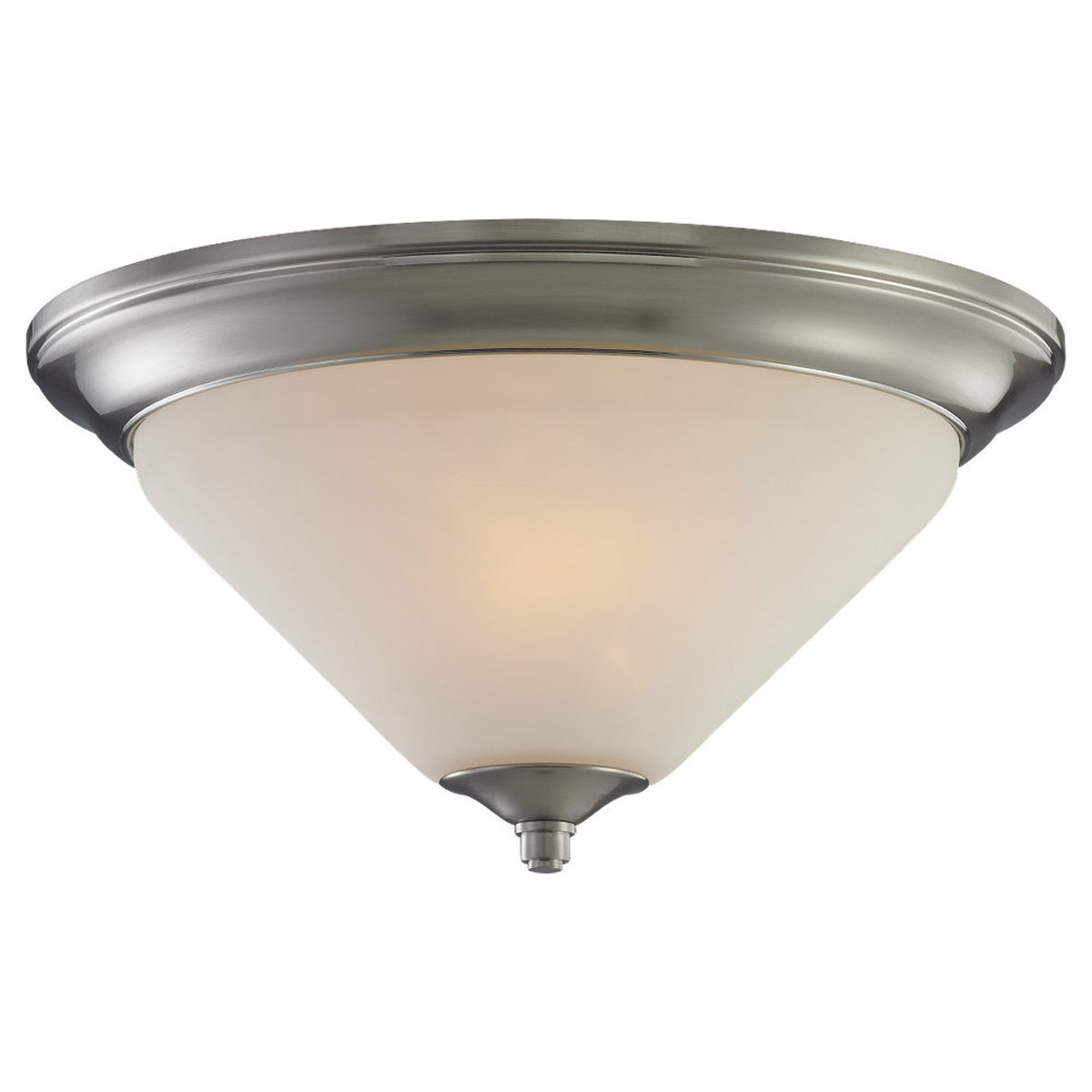 Sea Gull Lighting Belair 2 Light Flush Mount in Brushed Nickel 75790-962 photo
