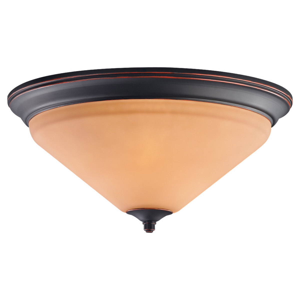 Sea Gull Lighting Belair 3 Light Flush Mount in Vintage Brown 75791-862 photo