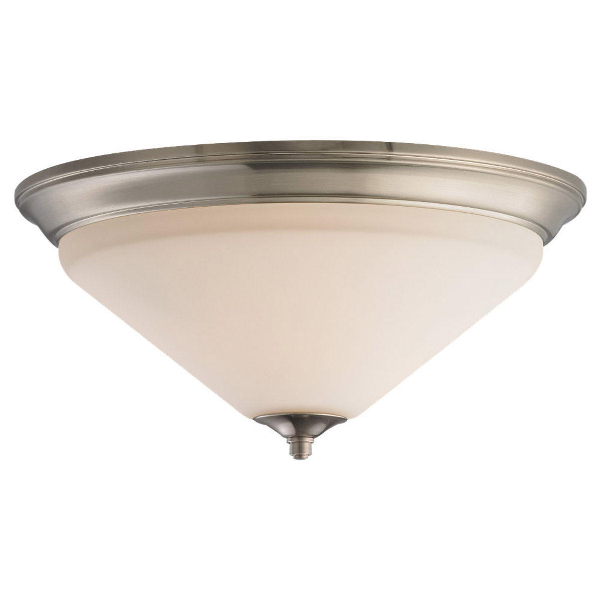 Sea Gull Lighting Belair 3 Light Flush Mount in Brushed Nickel 75791-962
