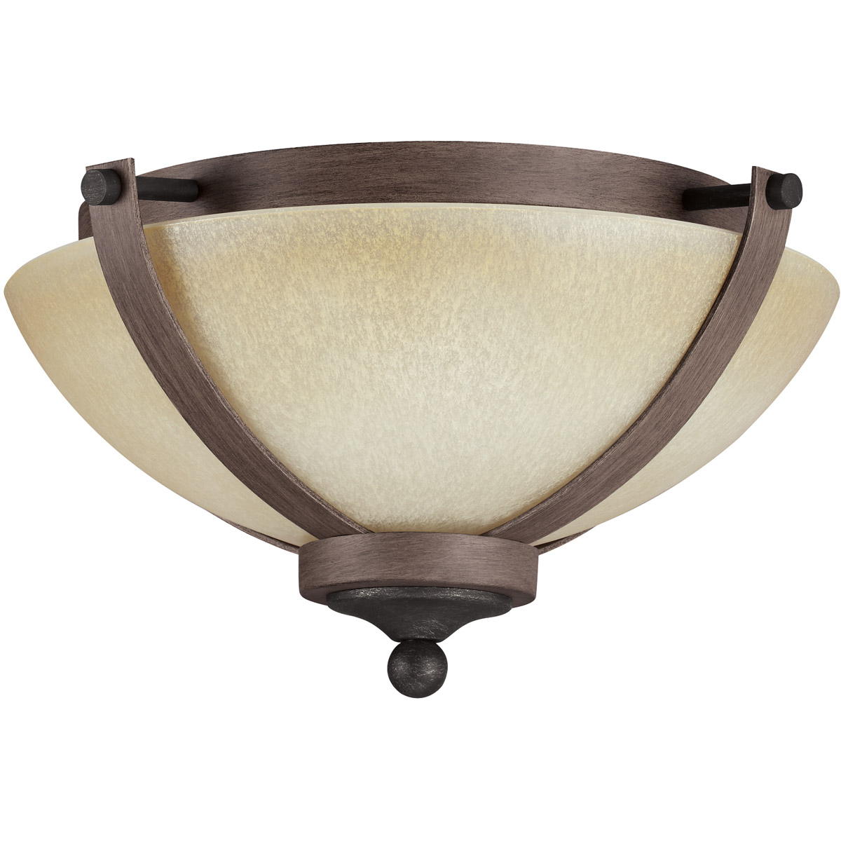 Sea Gull 7580402BLE-846 Corbeille 2 Light 15 inch Stardust / Cerused Oak Flush Mount Ceiling Light in Fluorescent photo