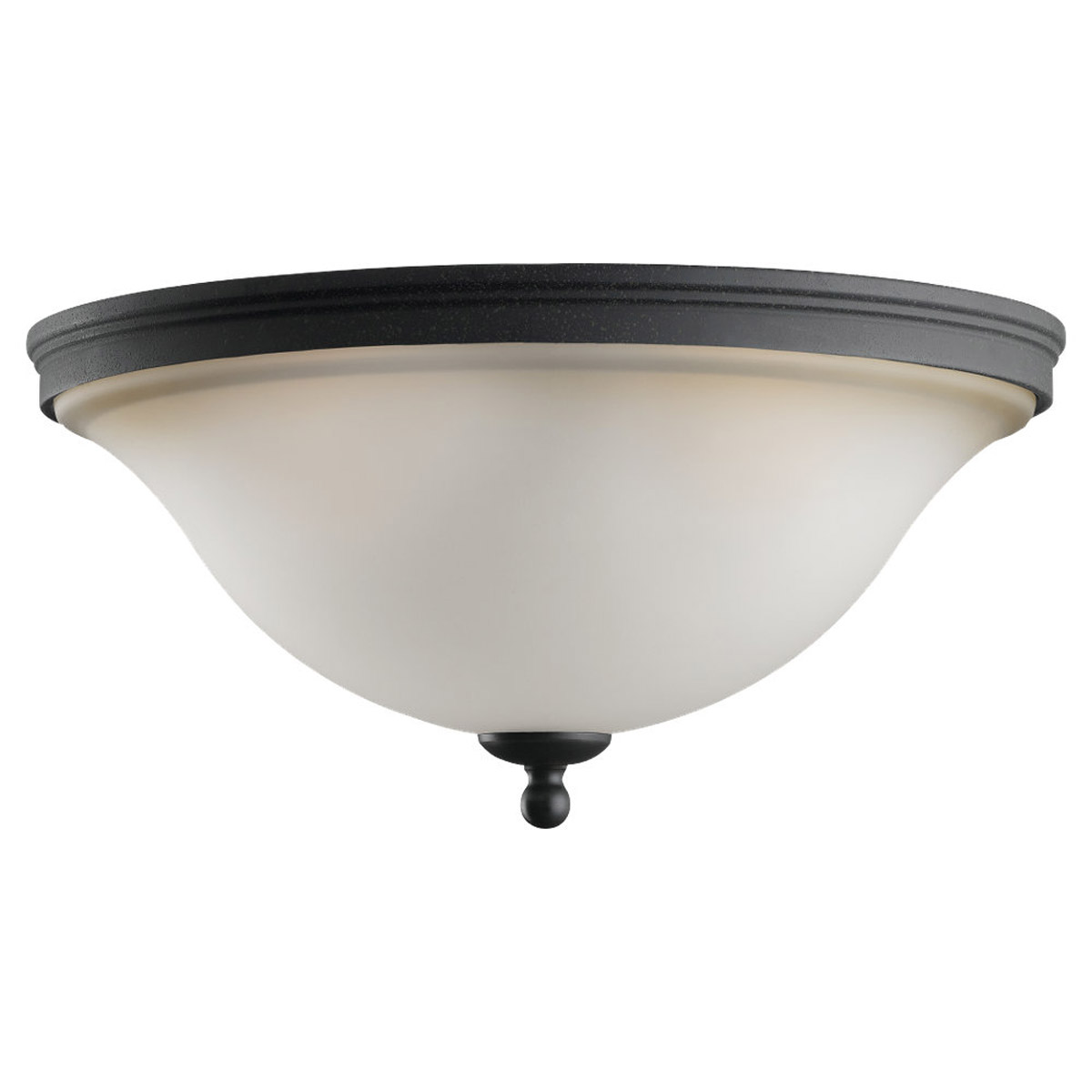 Sea Gull Lighting Gladstone 2 Light Ceiling Fixture in Forged Iron 75850-185