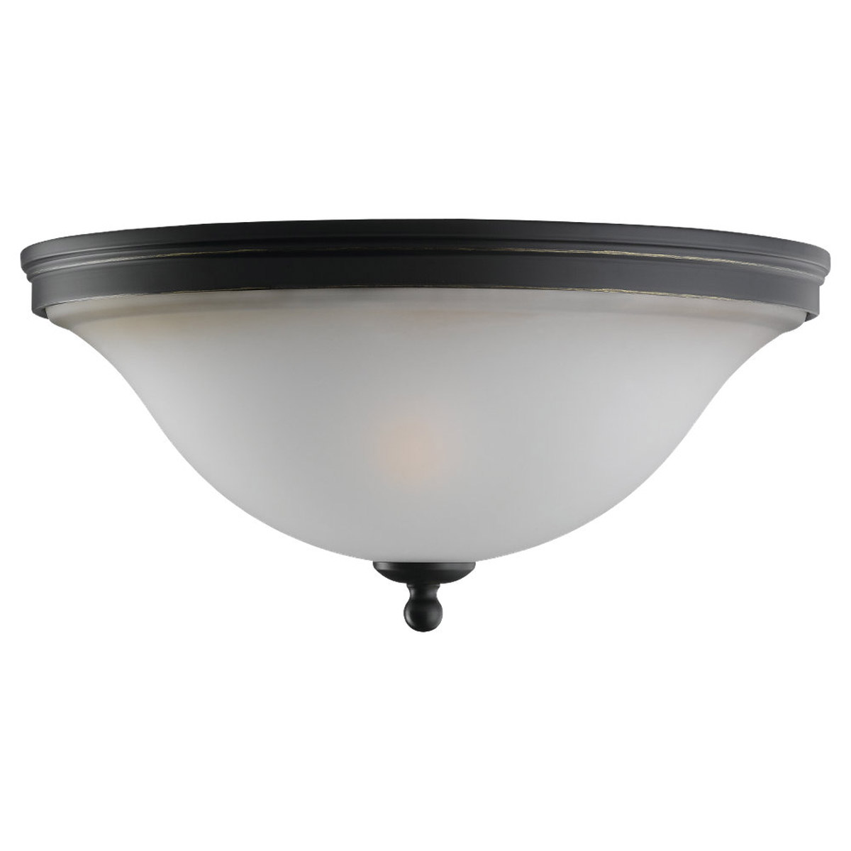 Sea Gull 75850-782 Gladstone 2 Light 14 inch Heirloom Bronze Flush Mount Ceiling Light in Smokey Amber Glass photo