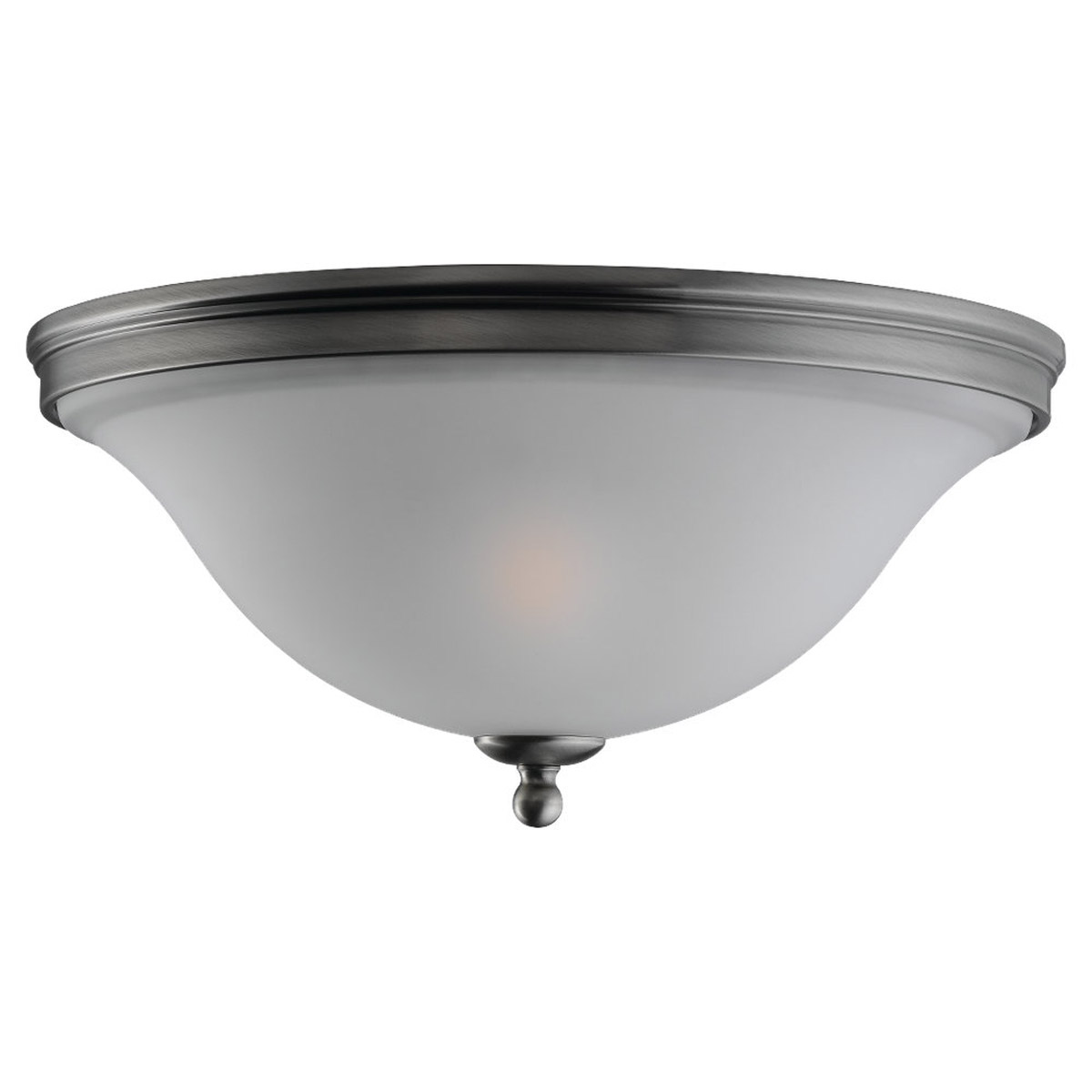 Sea Gull 75850-965 Gladstone 2 Light 14 inch Antique Brushed Nickel Flush Mount Ceiling Light in Satin Etched Glass photo