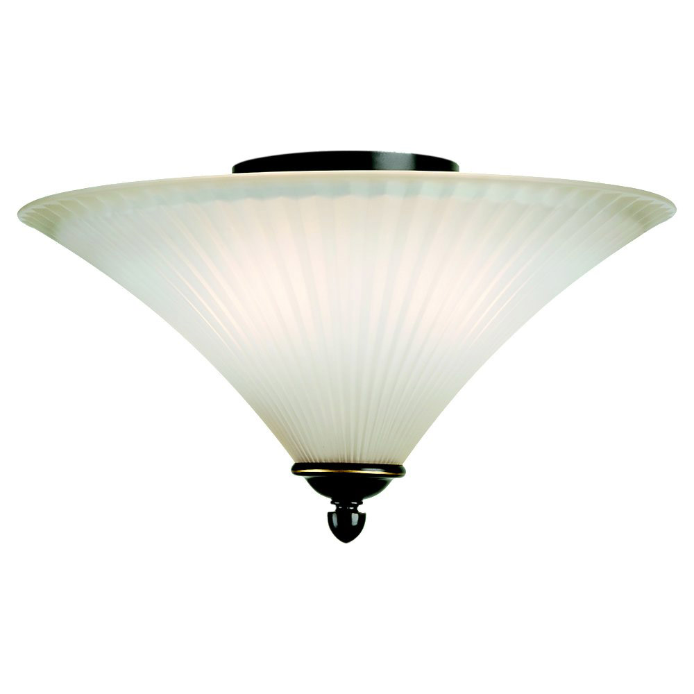 Sea Gull Lighting Joliet 2 Light Flush Mount in Heirloom Bronze 75935-782