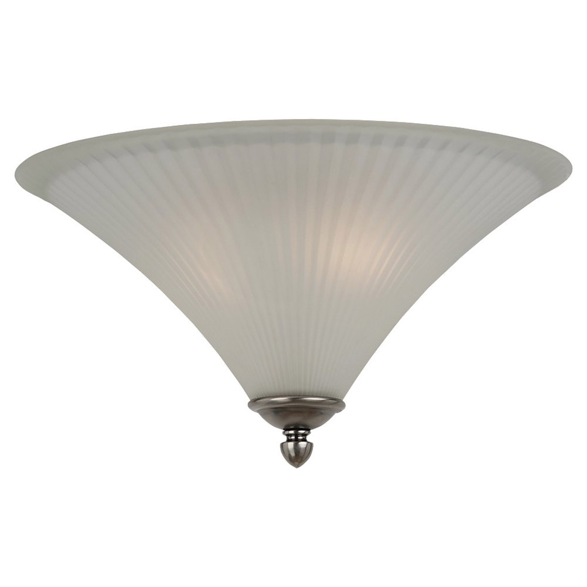 Sea Gull Lighting Joliet 2 Light Flush Mount in Antique Brushed Nickel 75935-965