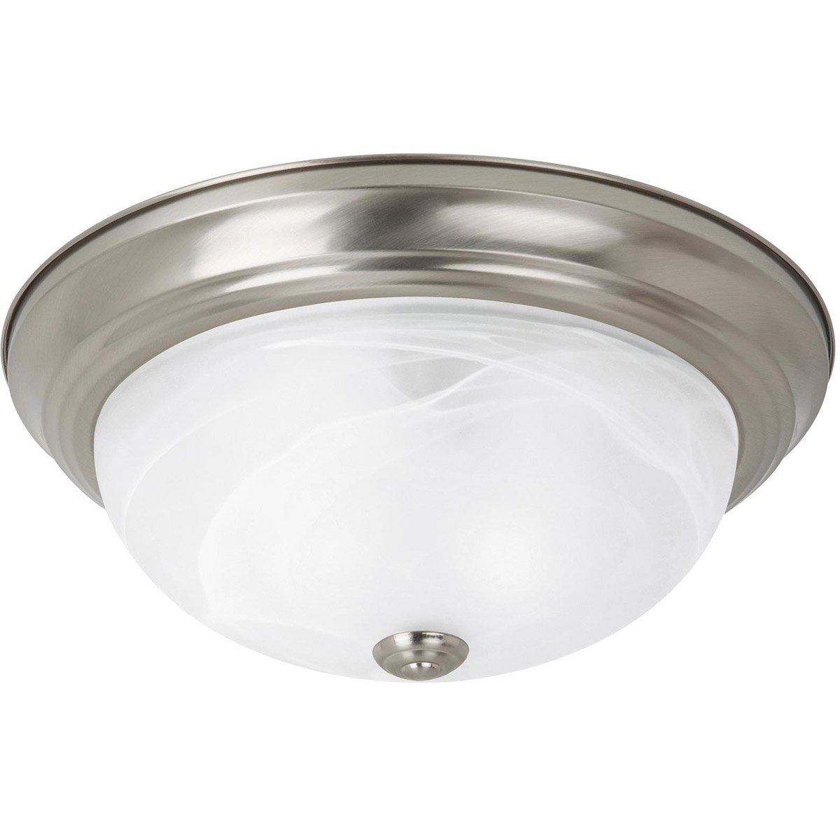 Sea Gull 75942 962 Windgate 2 Light 13 Inch Brushed Nickel Flush Mount  Ceiling Light In Standard
