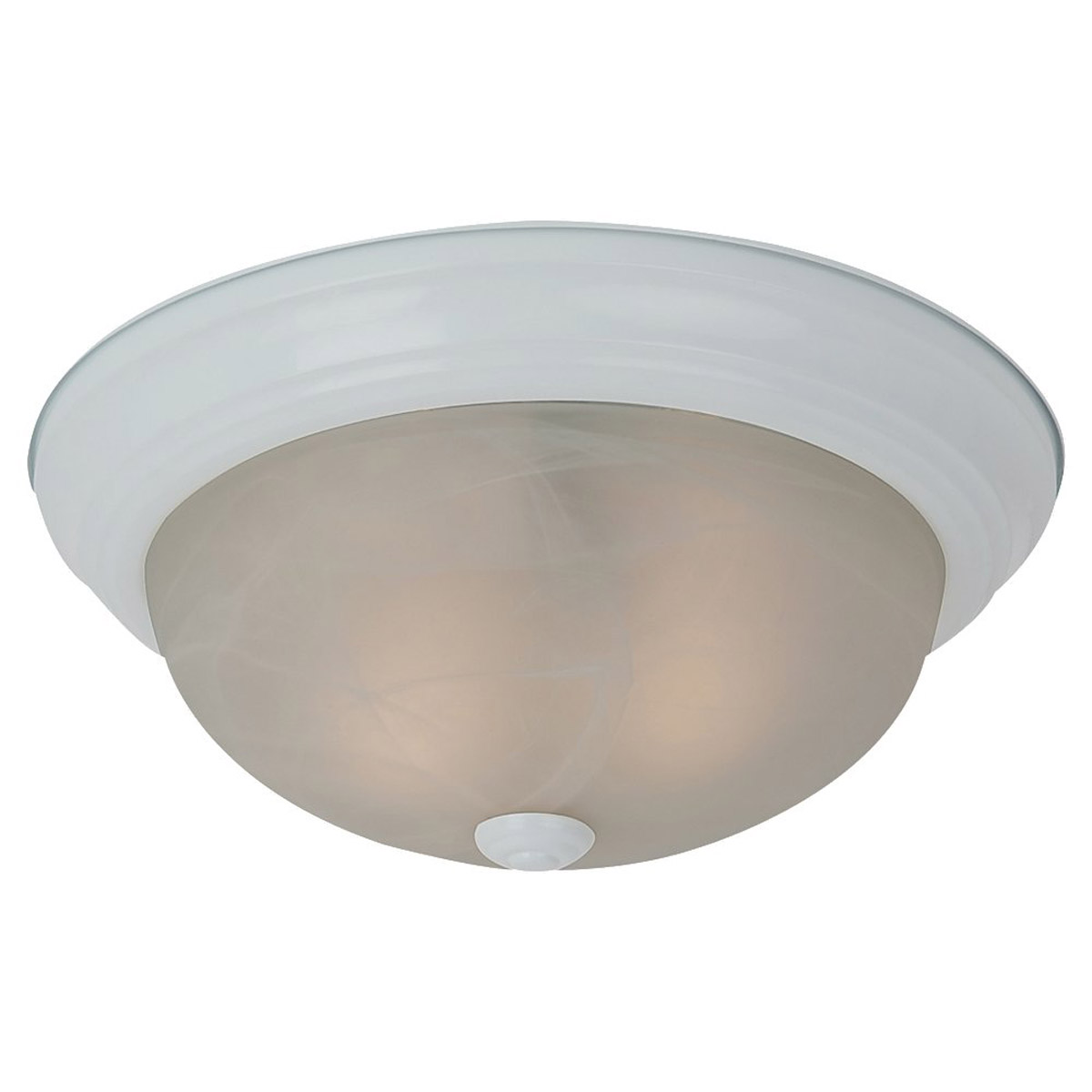 Sea Gull Lighting Windgate 2 Light Flush Mount in White 75942BLE-15